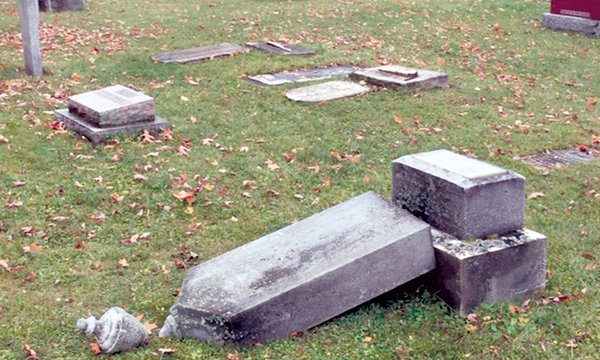{Charity concert planned to repair 80 plus vandalized tombstones}